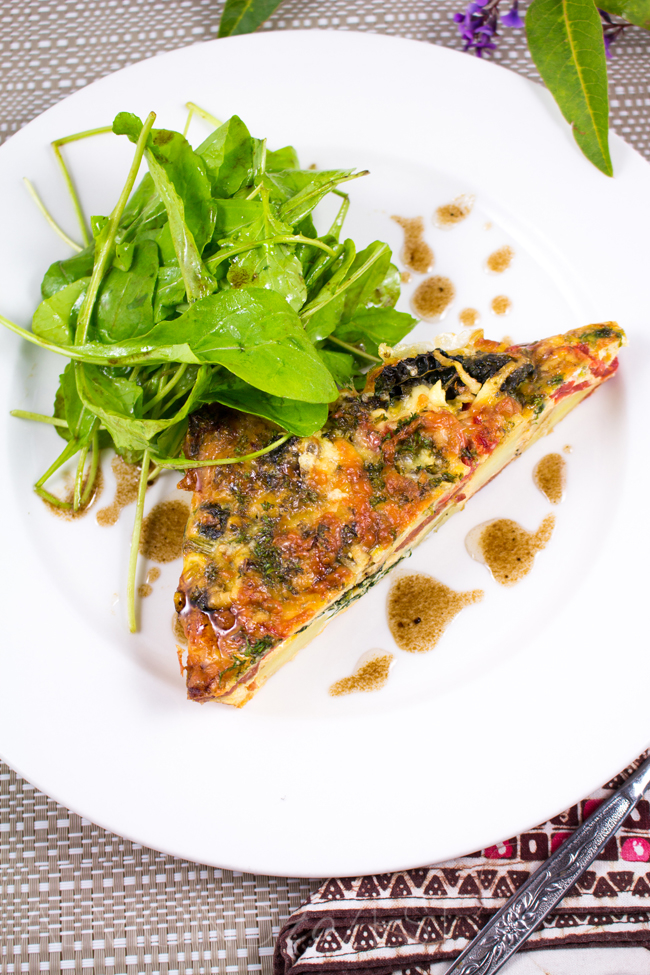 , Kale, Potato and Red Bell Pepper Frittata - Sweet red bell peppers ...