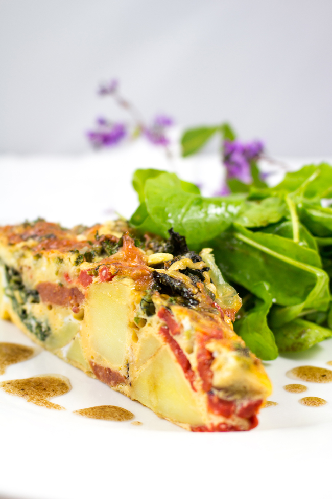 Chorizo, Kale, Potato and Red Bell Pepper Frittata ...