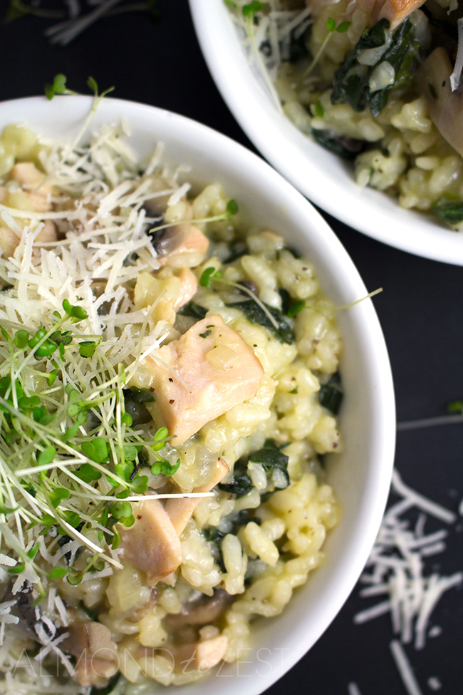Smoked Chicken and Mushroom Risotto