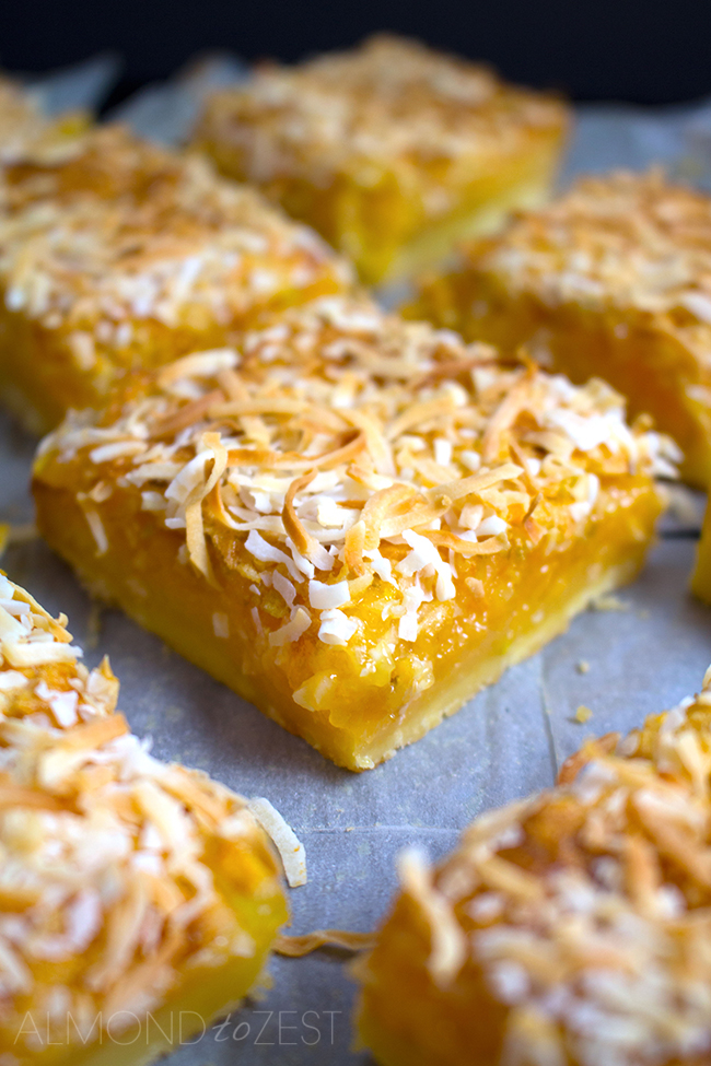 Pineapple, Lime and Coconut Bars