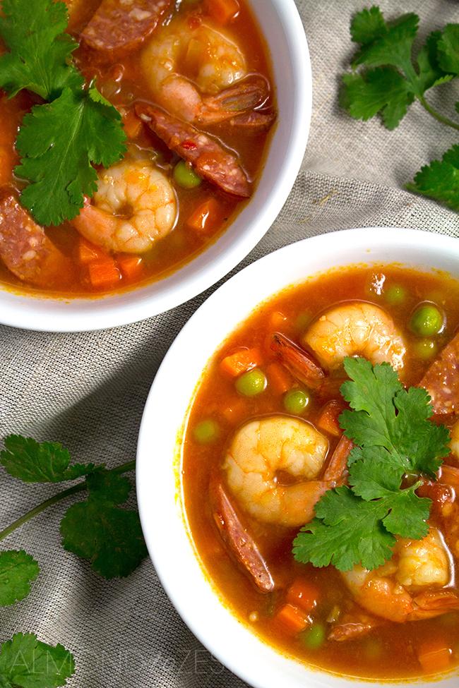 Prawn and Chorizo Soup