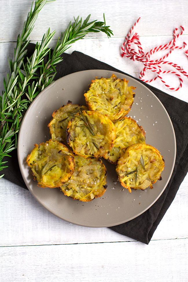 Potato, Onion and Rosemary Hash Cakes