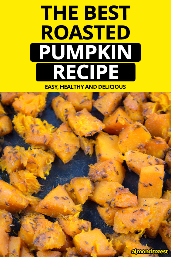 A quick and easy roast pumpkin recipe that can be used in countless recipes! Nutty and peppery flavors of the cumin seeds penetrate the flesh of the pumpkin to give it a more complex flavor!!